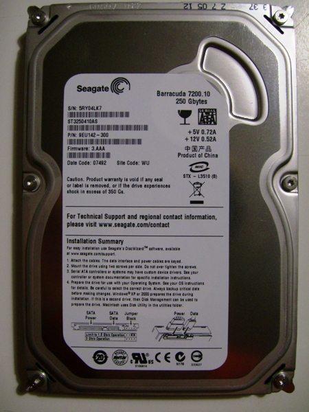 pic 0004p - Recensione - Barracuda 7200.10 250GB