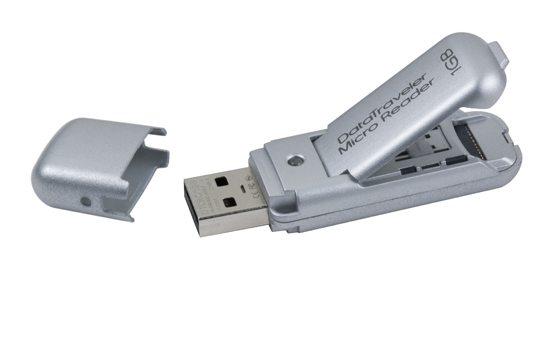 kingston datatraveler micro reader 01 - USB Flash Drive/Card Reader da Kingston