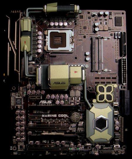 asus marine cool board concept 01 - Marine Cool: concept di scheda madre da parte di Asus