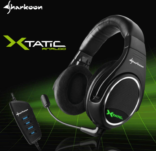 xtatic - Sharkoon presenta le cuffie XTatic Analog
