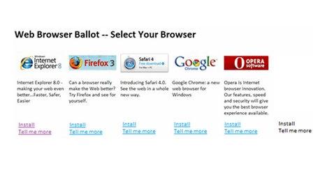 browserballot - Windows 7: sarà possibile decidere quale Browser installare