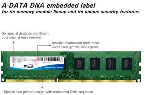 A Data DNA authentication label 01 - DNA authentication per i nuovi moduli Ram A-DATA