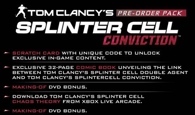 cat splinter cell conviction preorder updated - Splinter Cell Conviction, disponibile in edizione limitata su Xbox360