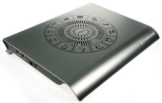 Evercool Zodiac II 01 - Evercool presenta il nuovo Notebook Cooler Zodiac II