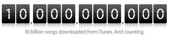 Apple iTunes 10billion 01 - 10 Miliardi di canzoni per Apple iTunes