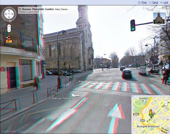 Google Maps Street View 3D 01 - Google aggiunge la modalità 3D a Google Maps & Books