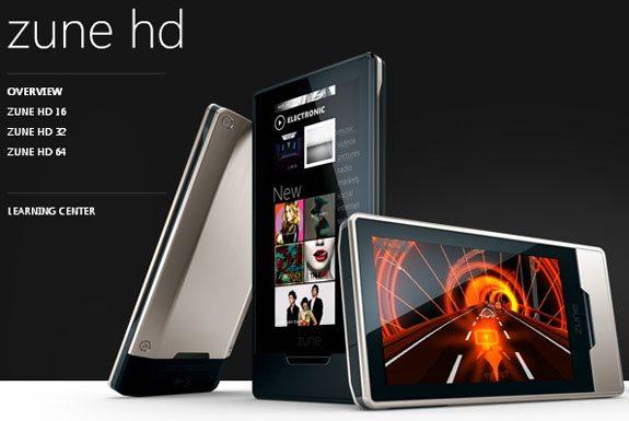 Microsoft Zune HD 64GB 01 - Zune HD in versione da 64GB a partire dal 12 Aprile