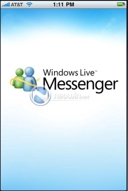 messengeriphone - Windows Live Messenger fotografato anche su iPhone