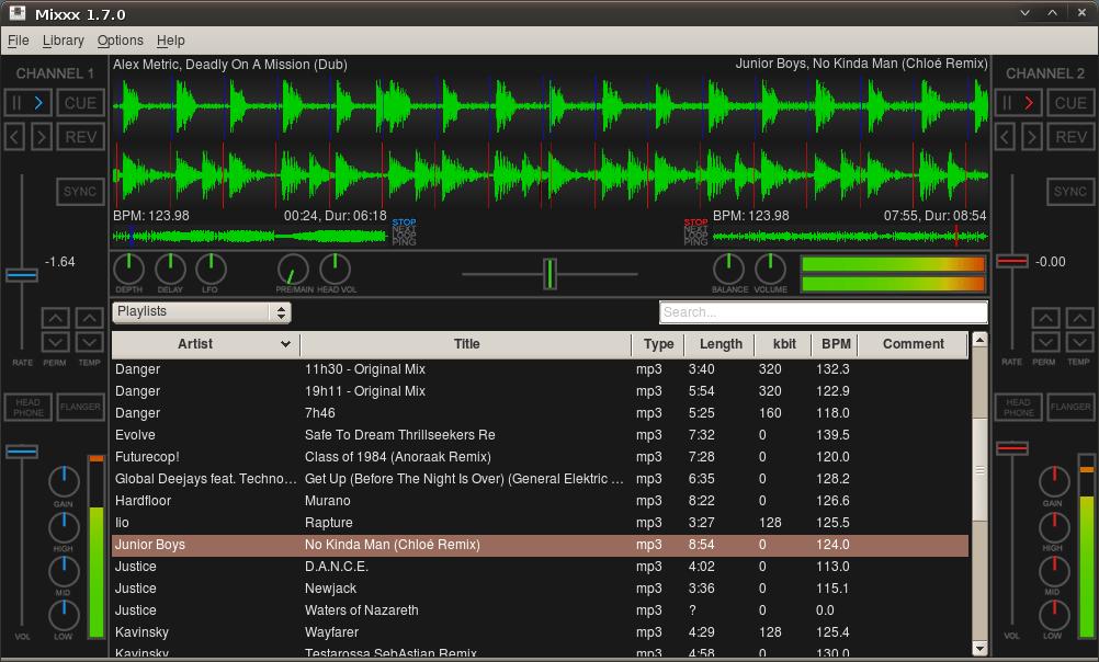 mixxx 170 1 - Software per DJ free : Mixxx