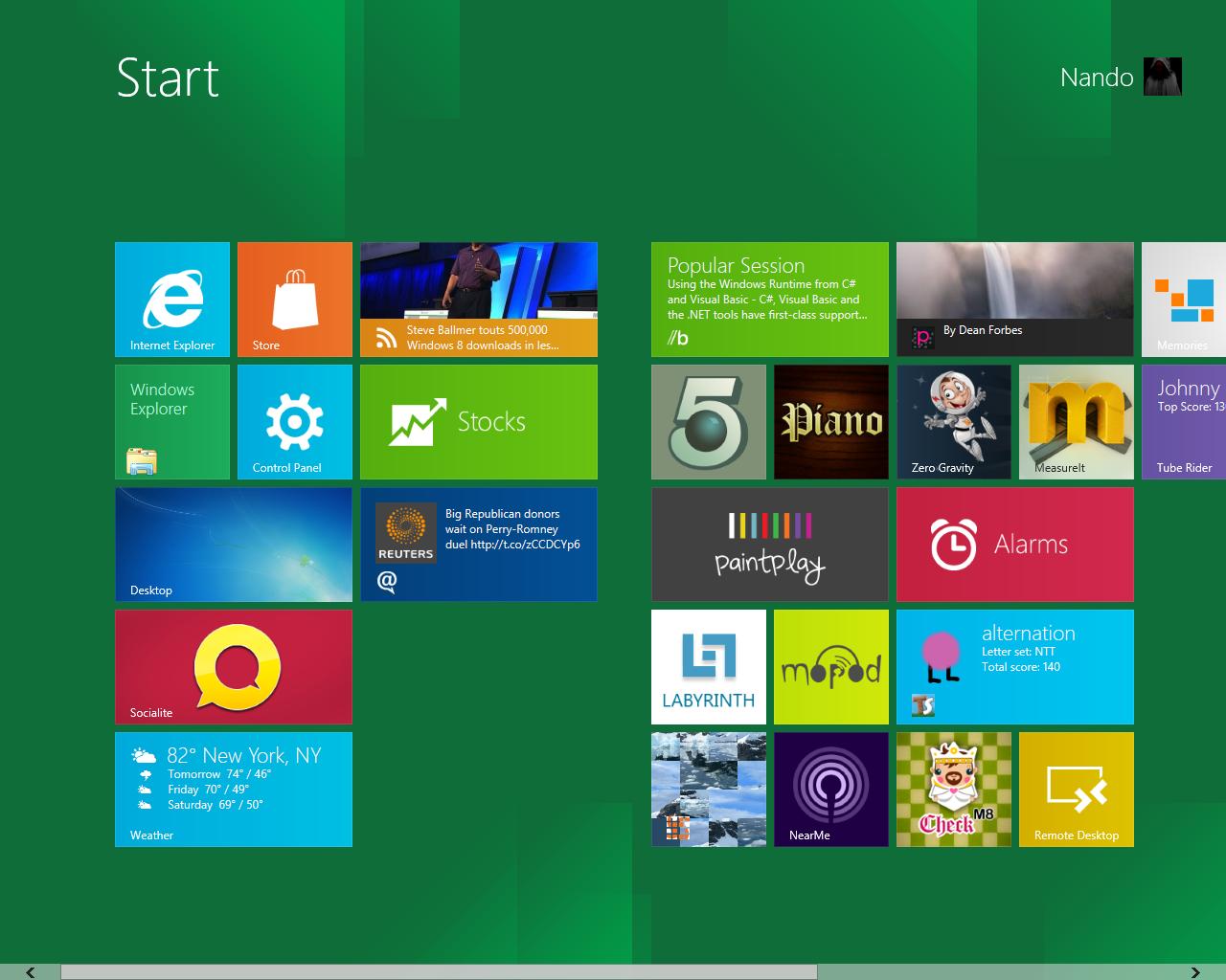 Metro Start - Windows 8 e ARM: no alla compatibilità sulle applicazioni