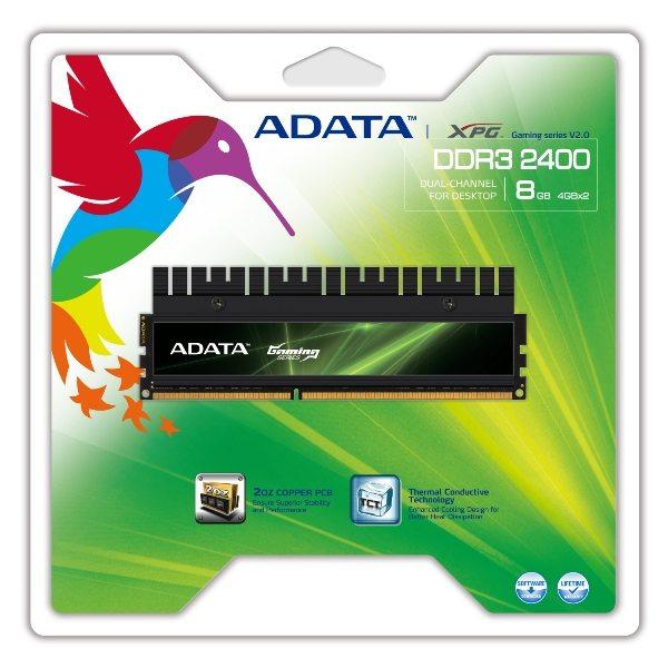 ADATA XPG Gaming DDR3 2400 - A-DATA annuncia il lancio di un kit memorie DDR3 XPG Gaming da 2400MHz