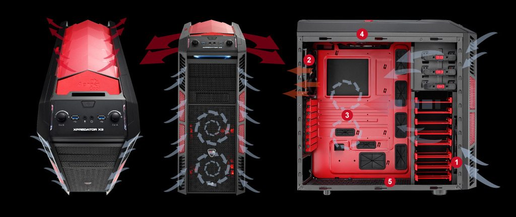 aerocoolpredator - Aerocool presenta il case XPreadator X3