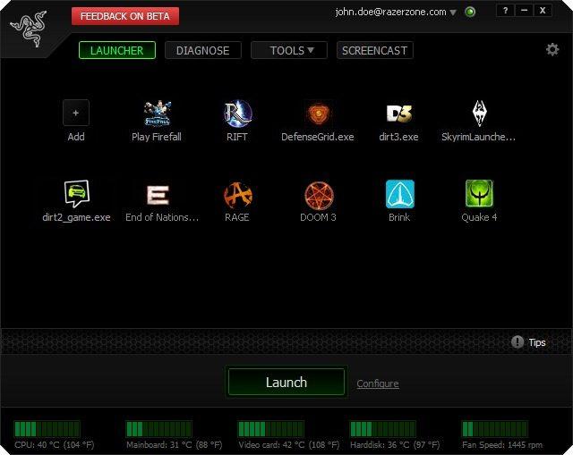 razer game booster 01 - Razer annuncia il lancio della versione Beta di Game Booster
