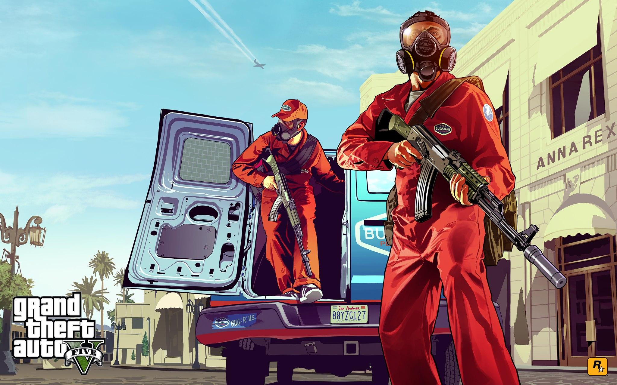 GTA 5 artwork - GTA 5: Rockstar mostra il primo artwork, novità a Novembre