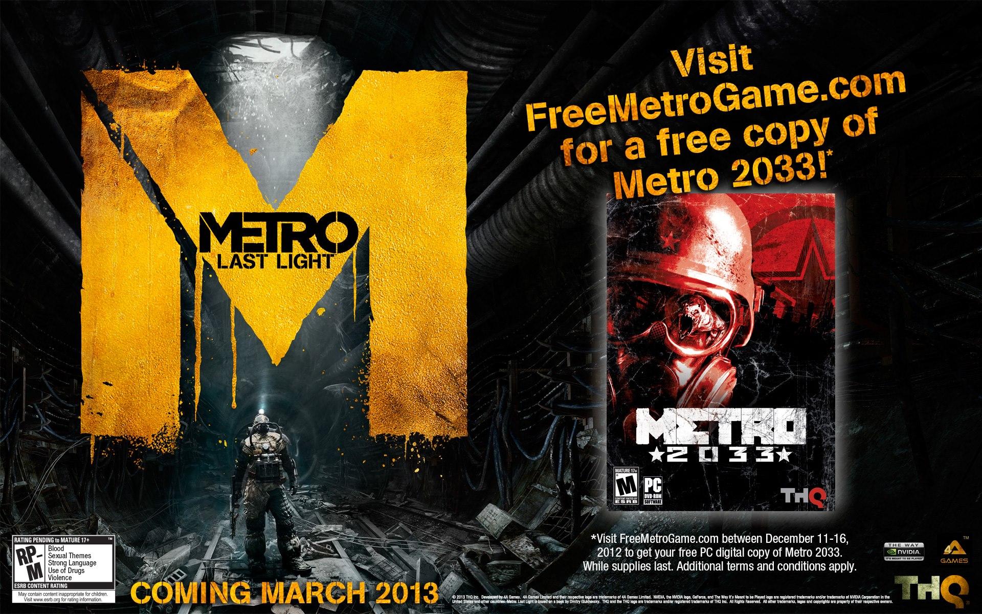 Metro 2033 - Metro 2033 gratis per PC fino al 16 Dicembre