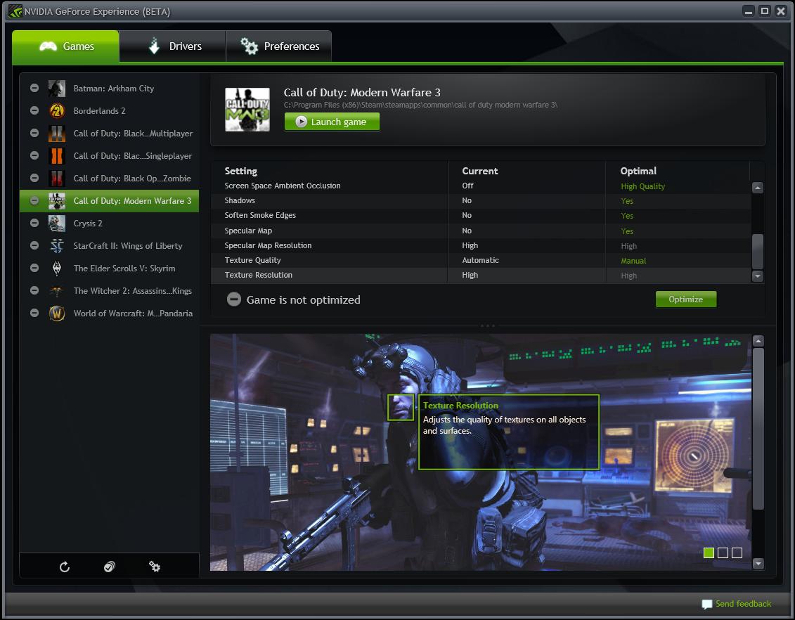 257a - Disponibile l'Open Beta di NVIDIA GeForce Experience