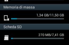 Memoria di sistema piena Galaxy S2