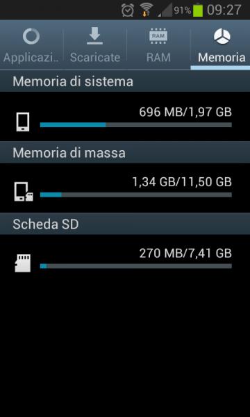 memoria piena samsung s2