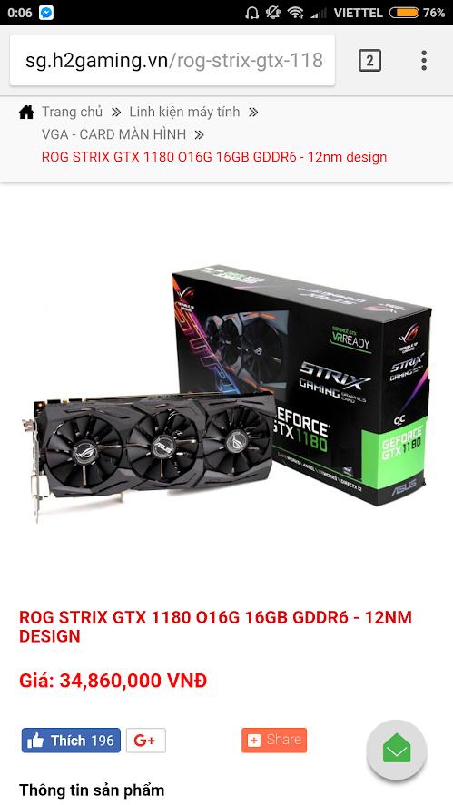 geforce gtx 1180 - GeForce GTX 1180 ASUS ROG STRIX: in preordine a 1500$